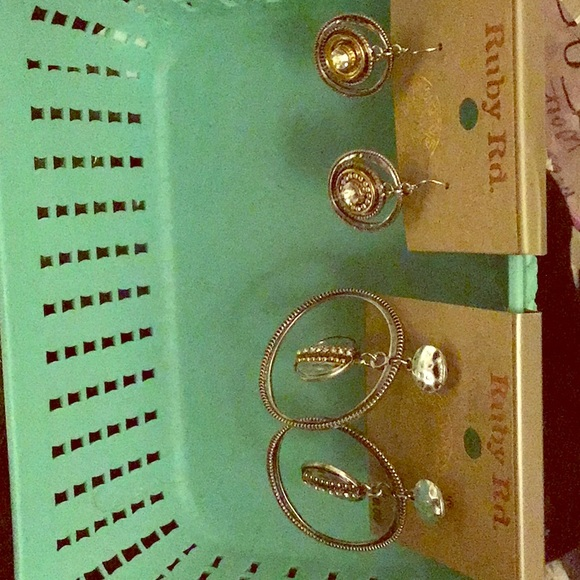 Ruby Rd. Jewelry - 2 NWT pairs of Ruby Rd. Silvertone earrings